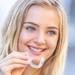 young woman with Invisalign